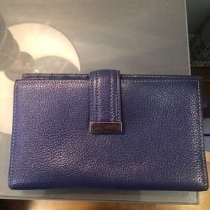DANIER purple trifold wallet